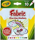 Crayola маркеры для рисования на ткани Fine Line Fabric Markers, фото 4