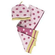 Комплкет шапка и шарф для девочки детский BRUMS Италия 133beld001 розовый весенняя осенняя демисезонная