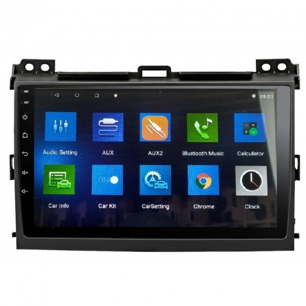 Штатная магнитола Toyota Prado 120 2004-2009 Android 10.1, экран-10дюймов,  4/32Gb с GPS,Bluetooth,WiFi 4x60Вт