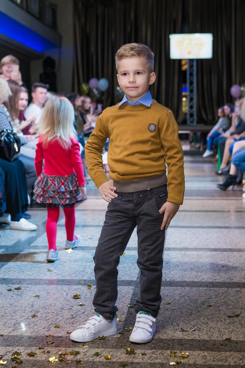 Детские брюки для мальчика BRUMS Италия 133bfbh012 серый, черный 128, 2016