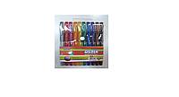 Набор цветных масляных ручек 10 цв.(1мм, резиновый держатель, упаковка из ПВХ).