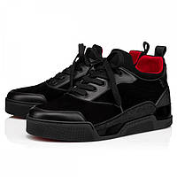 Christian Louboutin Low Top Aurelien Flat Black
