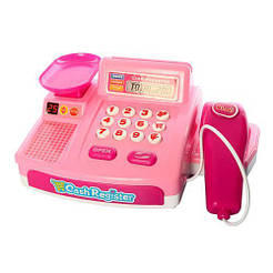 Магазин CF8609 кассовый аппарат - музыка, звук, свет, тележка, продукты