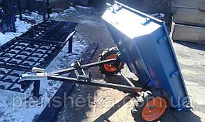 Прицепы к квадроциклам самосвал ступица (жиг и мотоблок). 105х120 см усиленный Фермер