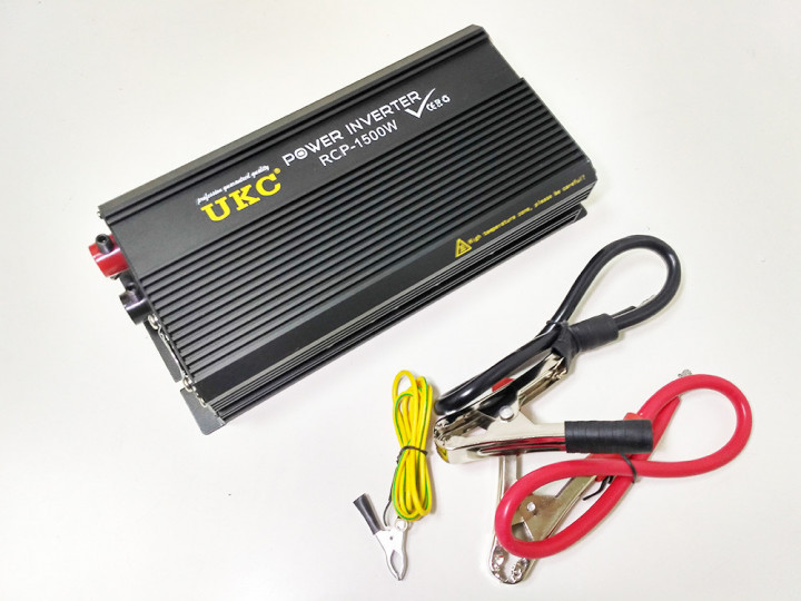 Перетворювач напруги інвертор автомобільний Power Inverter UKC 12V-220V RCP 1500W (7538HZ)
