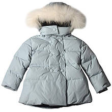 Детское пальто для девочки малышки BRUMS Италия 143BEAA010 Серый 80