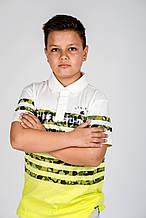 Детское поло для мальчика JBE Италия 151BHFN011 желтый 161