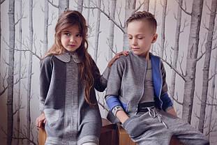 Детский пиджак для девочки Верхняя одежда для девочек CHIC Польша 16 / 17S0303 Серый 140, ,серый