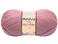 Детская акриловая пряжа (100% акрил, 50г/180м) Nako Super Bebe 247(сухая роза)