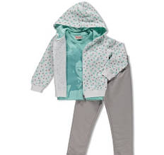Дитячий спортивний костюм для дівчинки BRUMS Італія 161BGEP002 Білий, сірий весняний осінній демісезонний 116