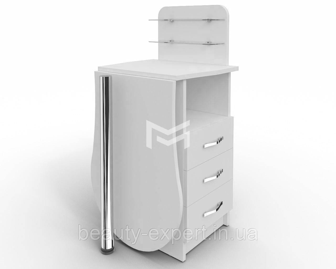 """Манікюрний стіл-трансформер зі складаним стільницею """"Естет компакт №1"""" стіл для манікюрного кабінету"""