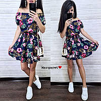 Женское летнее платье цветочный принт, фото 1