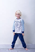 Утепление Детская пижама для мальчика на байке BRUMS Италия 163BFML003 Белый 116, Утепленная Детская пижама