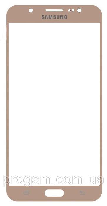 Стекло дисплея Samsung Galaxy J7 (2016) SM-J710H Gold (для переклейки)
