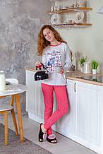 Детская пижама для девочки Tobogan Испания 19177582 серый меланж 140