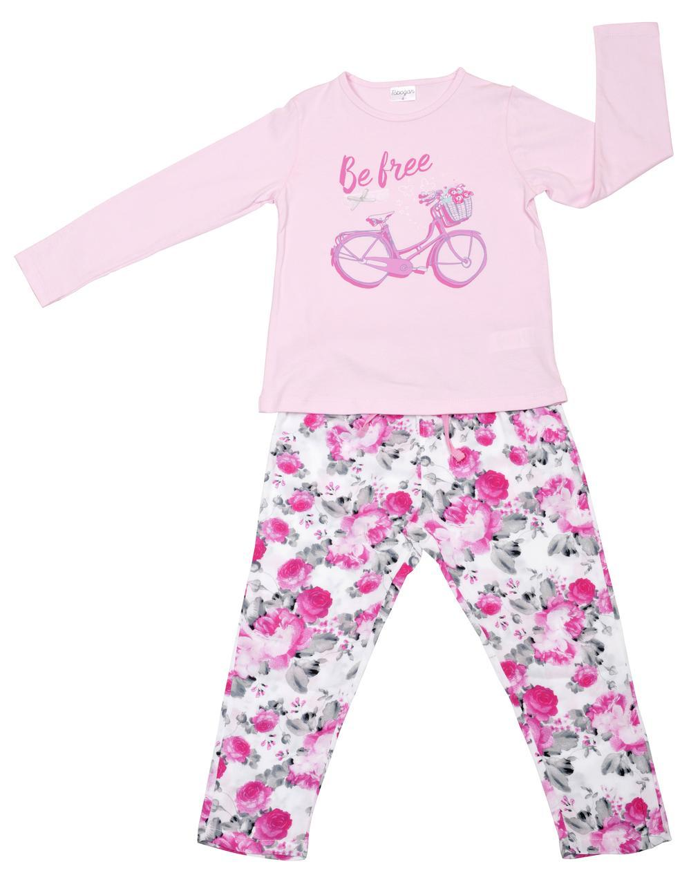 Детская пижама для девочки Tobogan Испания 19177715 розовый