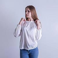 """Шовкові жіночі вишиванки """"Марго"""" білий+білий"""