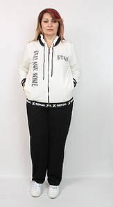 Турецкий женский прогулочный костюм в спортивном стиле, размеры 52-60