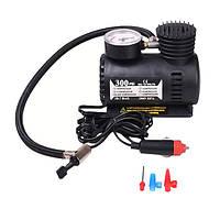 Автомобильный компрессор насос для авто,велосипеда электрический от прикуривателя с манометром 12 V 300 PSI, фото 1