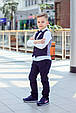Детские брюки для мальчика MEK Италия 191MHBH002 темно-синий, фото 2