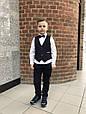 Детские брюки для мальчика MEK Италия 191MHBH002 темно-синий, фото 4