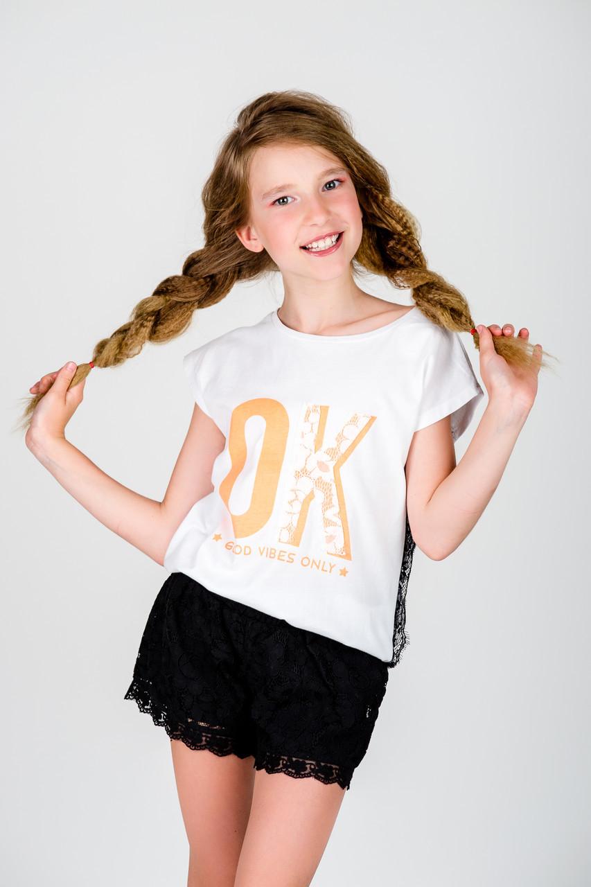 Детская футболка для девочки MEK Италия 191MIFN008 Белый
