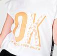 Детская футболка для девочки MEK Италия 191MIFN008 Белый, фото 5