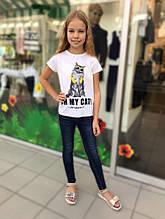 Демисезонные детские джинсы для девочки Young Reporter Польша 193-0110G-30-003-1 Синий