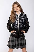 Детский кардиган для девочки Young Reporter Польша 193-0554G-04-100-1 Черный 164