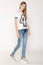 Демисезонные детские джинсы для девочки Young Reporter Польша 201-0110G-06-000-1 Голубой