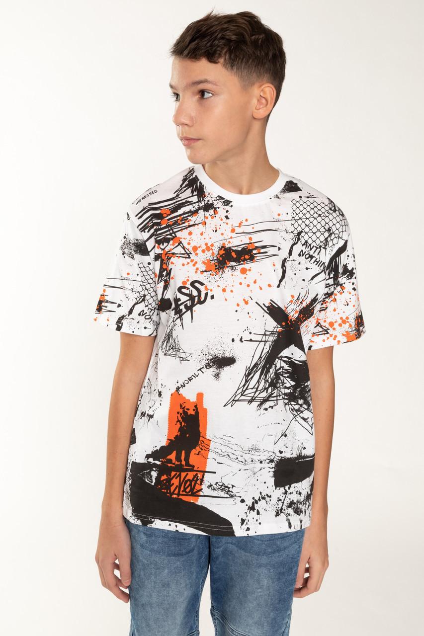 Дитяча футболка для хлопчика Young Reporter Польща 201-0440B-04-200-1 Білий 164, Для хлопчиків, Малюнок,