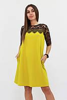 S, M, L | Коктейльное женское горчичное платье Arizona