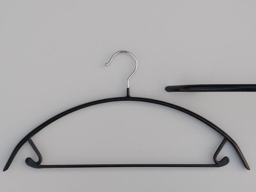 Плічка довжиною 42 см металеві в силіконовому покритті чорного кольору