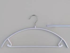 Плечики длина 42 см металлические в силиконовом покрытии белого цвета