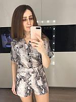 Шелковый женский костюм