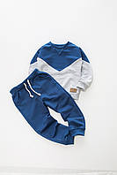 Костюм Little Bunny (джемпер + штаны) 122см Сине-серый (4881017)