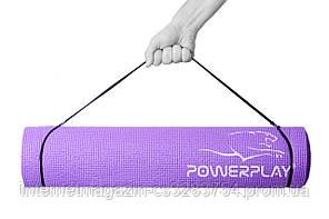 Килимок для фітнесу і йоги PowerPlay 4010 173х61х0.6 Фіолетовий (PP_4010_Voilet)