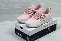 Женские кроссовки Fila розовые