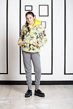 Детская куртка для девочки Верхняя одежда для девочек iDO Италия 4 R954 / 00 Желтый