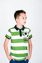 Детское поло для мальчика Desigual Испания 40L3708 салатово-белая 128