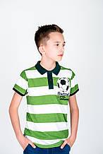 Детское поло для мальчика Desigual Испания 40L3708 салатово-белая 140