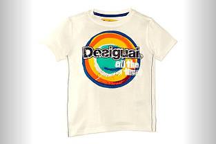 Дитяча футболка для хлопчика Desigual Іспанія 40T3645 білий
