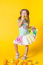 Детские юбки для девочки Desigual Испания 41F3116 Белый 128, , белый,