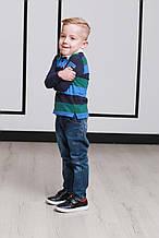 Детские утепленные джинсы для мальчика Zeyser Турция 42060 темно-синий
