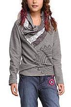 Детский пуловер для девочки Desigual Испания 48S3153 серый 116 104
