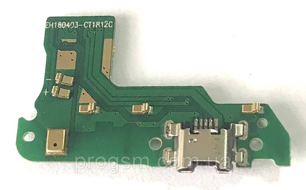 Разъем зарядки Huawei Y6 (2018) (ATU-L31 / с платкой)