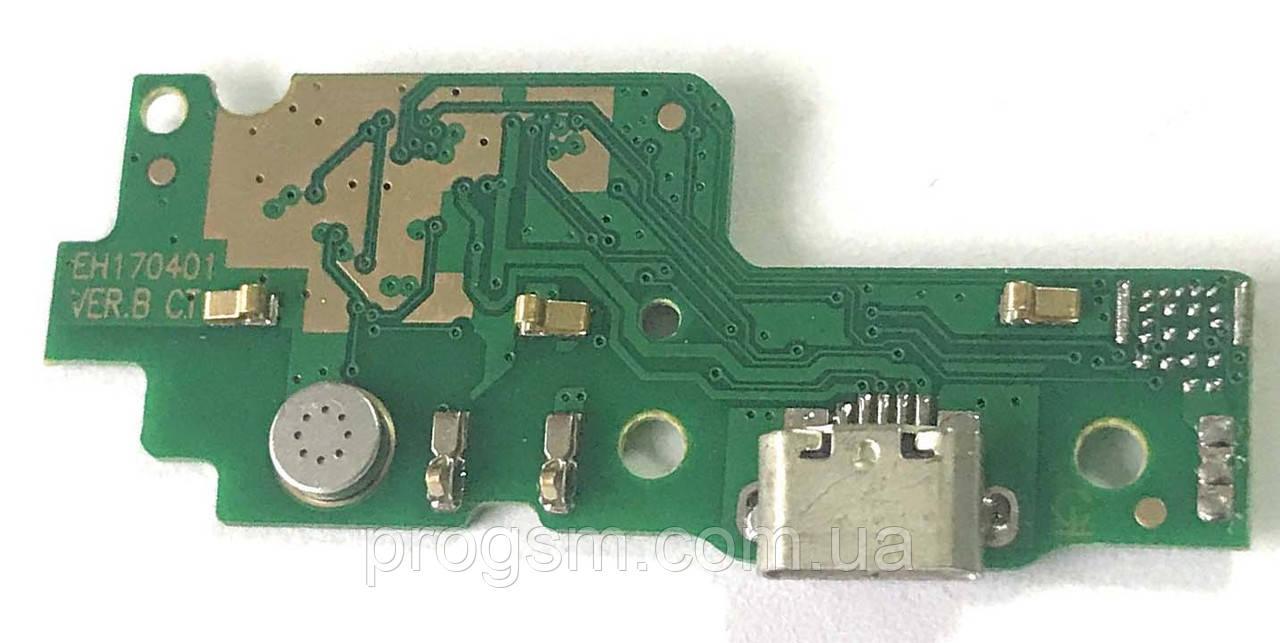Разъем зарядки Huawei Y6 ll (CAM-L21 / с платкой)