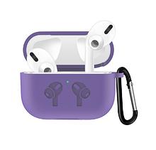Силіконовий чохол IQEA для навушників Apple AirPods Pro Колір Lilac Бузковий Bluetooth Silicone Case