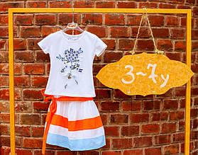 Нарядная юбка для девочки Alice Pi Италия 6310 Триколор 128
