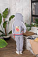 Детский спортивный костюм для девочки Colabear Турция 683000 Серый весенний осенний демисезонный, фото 4